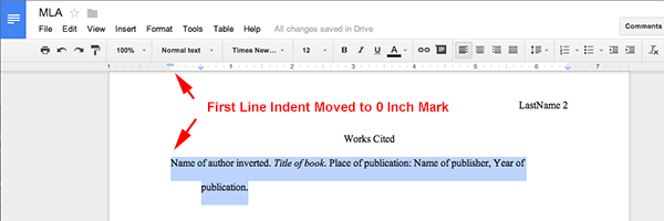 How to make an mla format essay with google docs