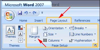 word2007-margins