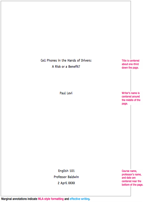 title page of term paper