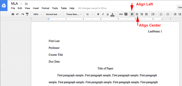 how to make an mla title page