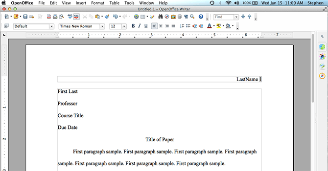 Worksheet Works Heading : Mla format using openoffice mlaformat