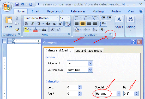 Mla Format On Microsoft Word 2007 Mlaformat Org