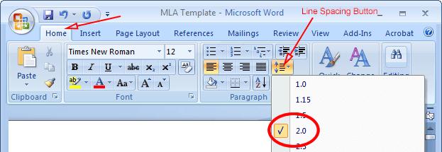 mla format on microsoft word 2010 mlaformat org