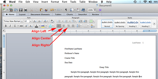 Mla Format On Microsoft Word 2011 Mac Os X Mlaformat Org