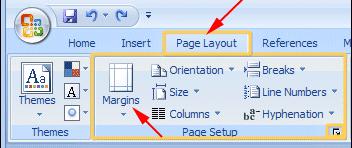 word2010-margins