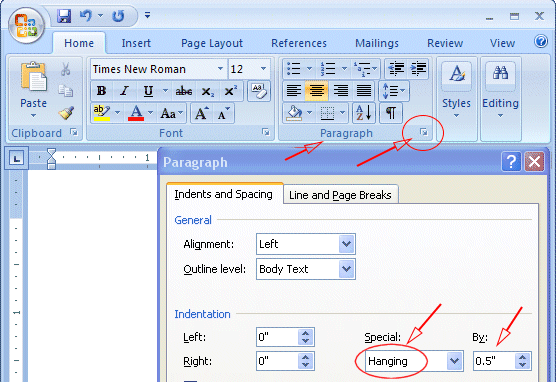 mla format on microsoft word 2013