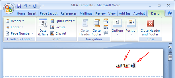 mla formatting word 2013