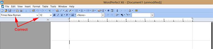 wordperfect-fontandsize