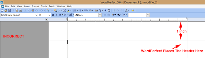 wordperfect-incorrectmlaheader
